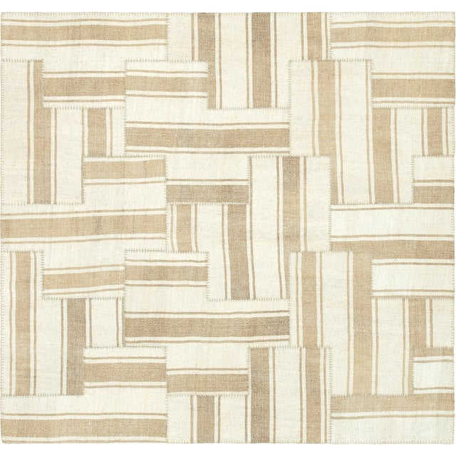 Mid 20th Century Vintage Kilim Composition Rug- 5′10″ × 6′ For Sale In New York - Image 6 of 6