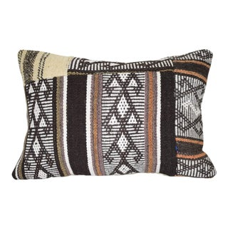 Handmade Patchwork Throw Lumbar Pillow Cover, Kilim Pillow Cover Novelty Home Cushion Cover, Decorative Armchair Pillow 14'' X 20'' (35 X 50 Cm) For Sale