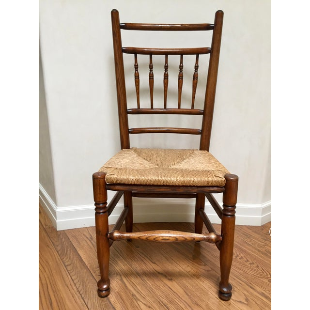 19th Century Americana Side Chair With Rush Seat For Sale - Image 10 of 10