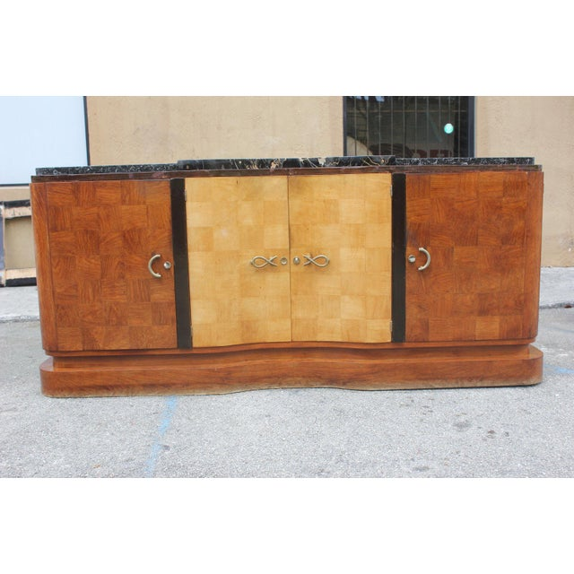 French Art Deco Palisander and Sycamore Buffet / Sideboard By Tricoire Circa 1930s - Image 2 of 11