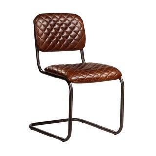 Classic Quilted Leather Chair For Sale