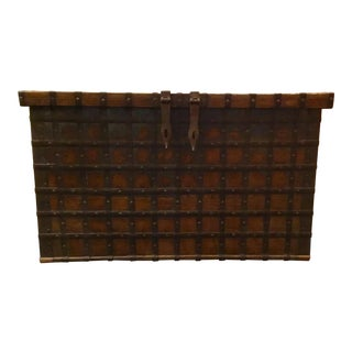 Studio A Large Rustic Vintage Trunk For Sale