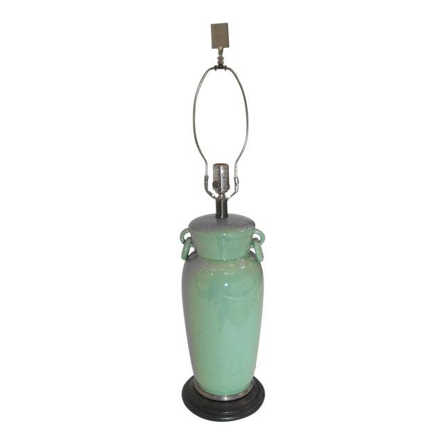 Vintage Frederick Cooper Celadon Table Lamp For Sale