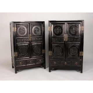 Antique Chinese Zitan Cabinets - A Pair Preview