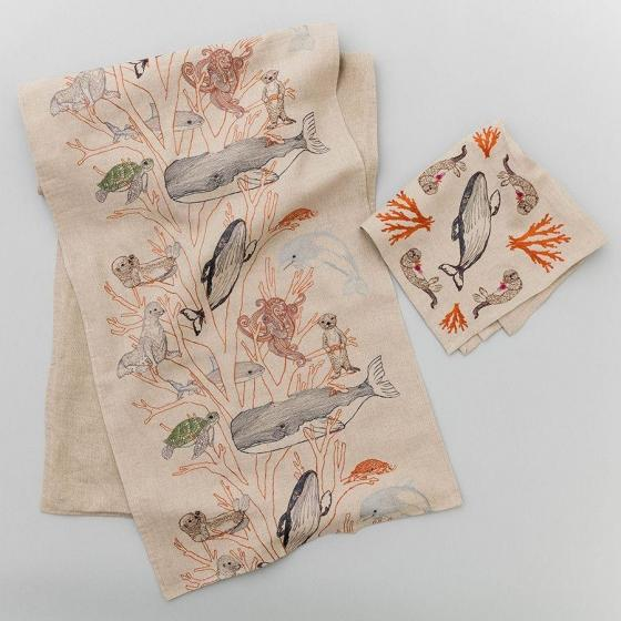 Coral Forest Dinner Napkin - Image 5 of 7