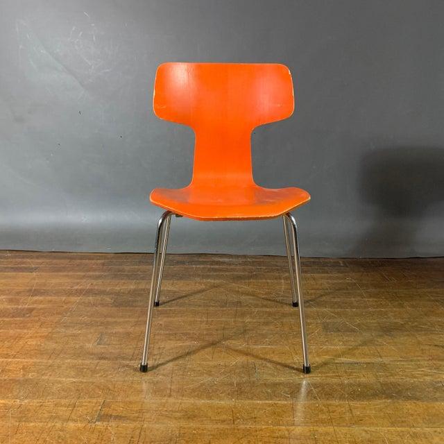 Fritz Hansen 1970s Vintage Arne Jacobsen For Fritz Hansen Dining Chairs-Set Of 5 For Sale - Image 4 of 11