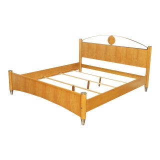"Ethan Allen ""Radius Collection"" King Size Maple Bed For Sale"