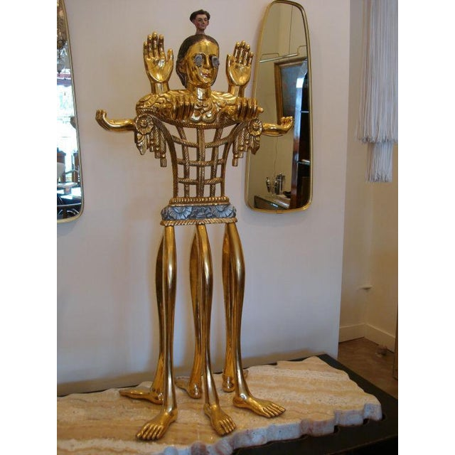 "Pedro Friedeberg 5-foot Tall Gilt Candelabrum by Pedro Friedeberg ""Venus of Galveston"" For Sale - Image 4 of 7"