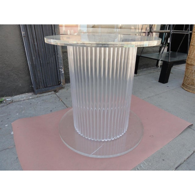 Column Style Lucite Center Table by Ritts Furniture Company For Sale In Los Angeles - Image 6 of 11
