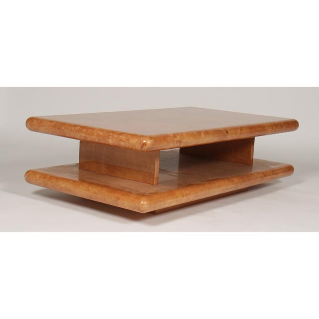 Late 20th Century Parchment Coffee Table by Aldo Tura For Sale - Image 5 of 5