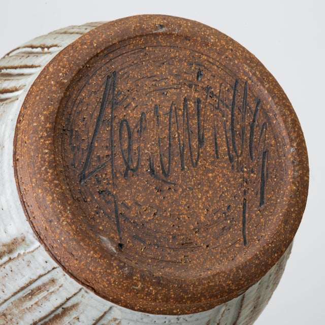 California Modern Incised Studio Pottery Vessel With Lid by Don Jennings For Sale - Image 12 of 13