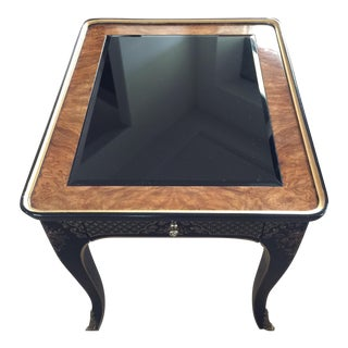 Vintage Drexel Black Chinoiserie End Table