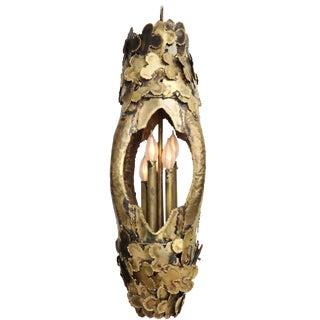 1960s Brass Tom Greene Chandelier For Sale