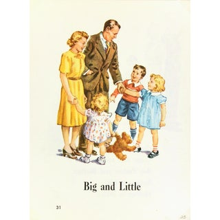 Vintage Lithograph - Dick & Jane Print, C. 1950 For Sale