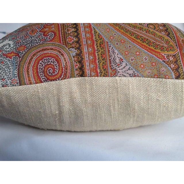 19th Century Scottish Wool Paisley Pillows - Pair - Image 2 of 3