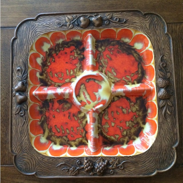 Vintage Treasure Craft Serving Platter - Image 2 of 5