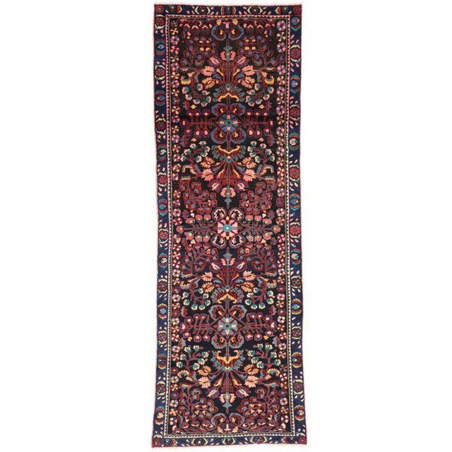 Antique Persian Bakhtiari Runner with Modern Style in Vibrant Colors For Sale - Image 9 of 9