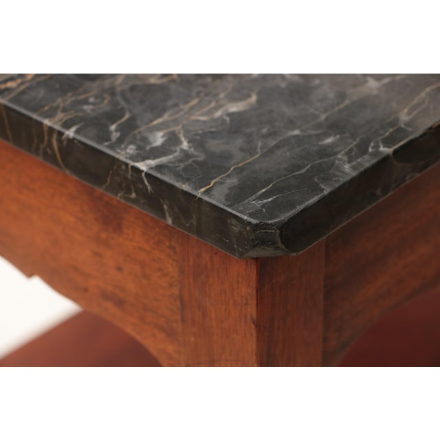 Portoro Black Marble and Mahogany SideTable For Sale - Image 9 of 11