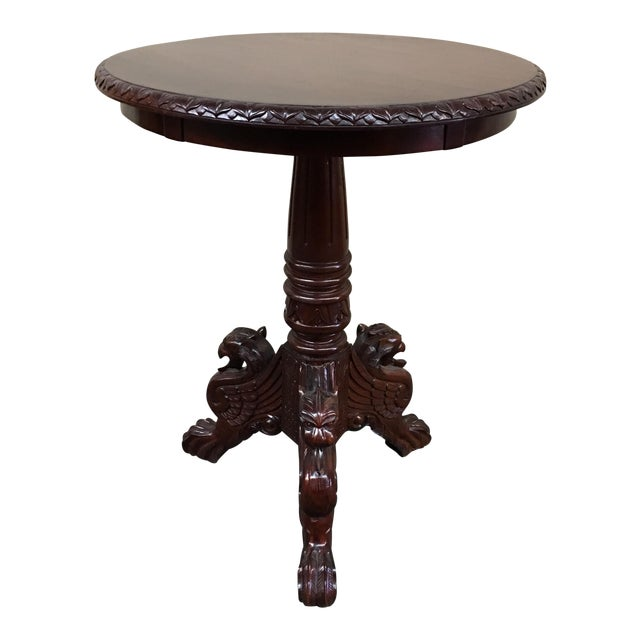 Vintage Carved Mahogany Side Table - Image 1 of 7