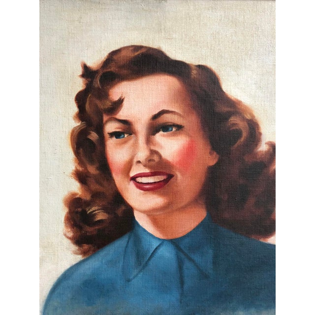 Mid Century Illustrator Oil/Canvas of a Woman With Beer For Sale In New York - Image 6 of 8