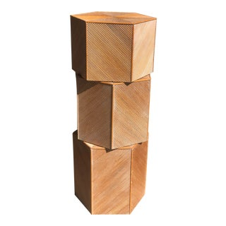 20th Century Italian Hexagonal Graduated Side Coffee Cocktail Tables - Set of 3 For Sale
