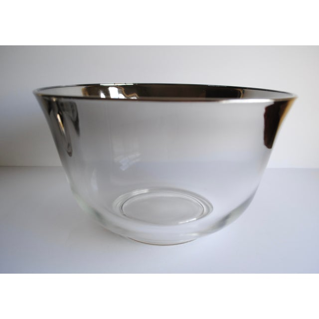 Mid-Century Silver Fade Punch Bowl & Glasses - Image 4 of 5