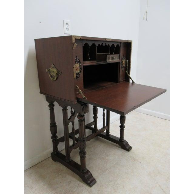 Antique Spanish Renaissance Drop Front Gothic Writing Desk For Sale - Image 9 of 13