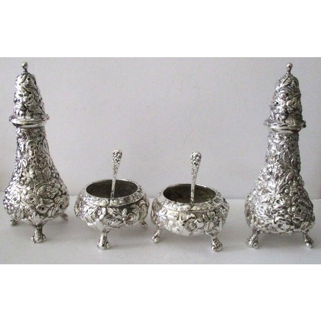 Stieff Rose-Pattern Salt & Pepper Set - Set of 4 - Image 6 of 11