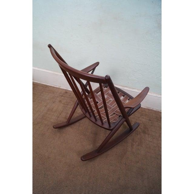 Frank Reenskaug Bramin Danish Teak Rocking Chair - Image 6 of 6