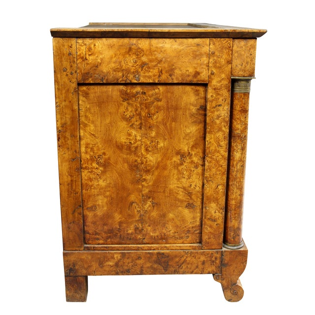 Charles X Burl Elm Commode For Sale - Image 12 of 13