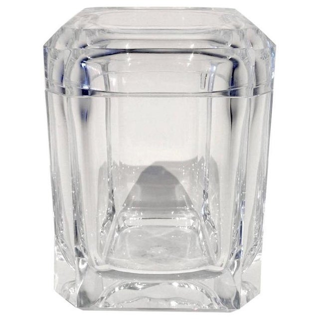 Faceted Acrylic Ice Bucket - Image 1 of 4