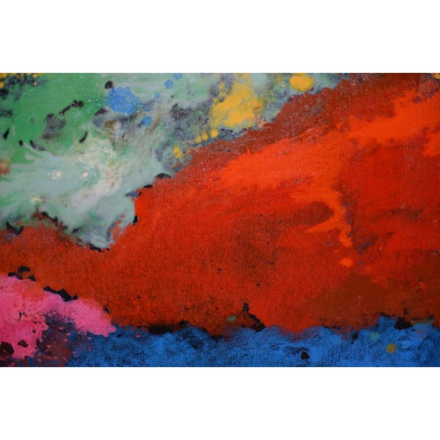 21st C. Modernist Abstract Oil Painting by Manor Shadian (B.1931 Iran / California) For Sale In San Francisco - Image 6 of 12