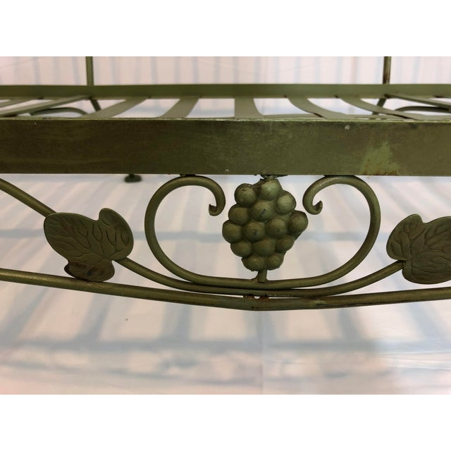 Vintage Woodard Style Wrought Iron Sofa For Sale - Image 10 of 12