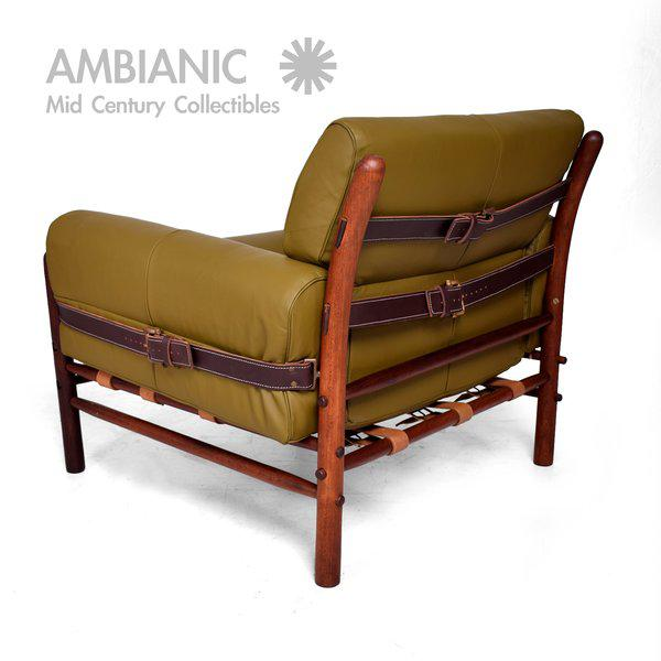 "Arne Norrel ""KONTIKI"" Pair of Safari Chairs - Image 5 of 11"