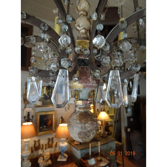 18th Century Italian Crystal Chandelier For Sale - Image 4 of 13