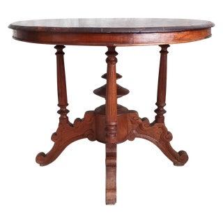 Antique 19th C. Dutch Colonial Teak Entry Table For Sale