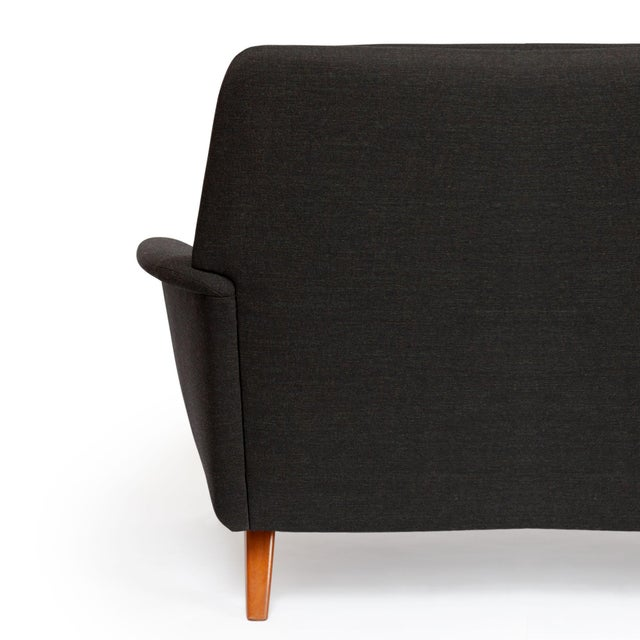 Fabric Dux Danish Modern Black Sofa & Lounge Chair - 2 Pc. Set For Sale - Image 7 of 13