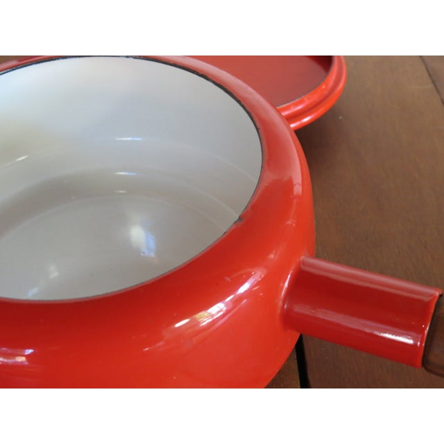 Dansk Kobenstyle Red Enamel Fondue Pot For Sale In Seattle - Image 6 of 11