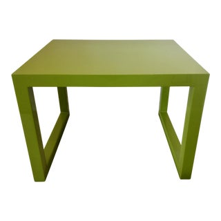 Modern Green Lacquer Side Table