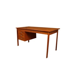 Mid Century Danish Teak Peter Lovig Nielsen Jens Quistgaard Slide Top Desk For Sale