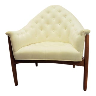 Mid-Century Modern Milo Baughman for Thayer Coggin Style Button Tufted Lounge Chair For Sale