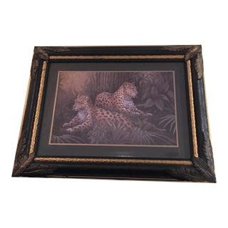 Vintage Metal Framed Leopard Print