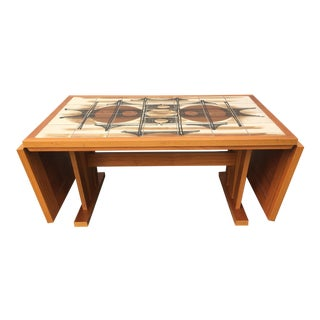 1970s Modern Teak Tiled Dining Table by Gangso Mobler For Sale