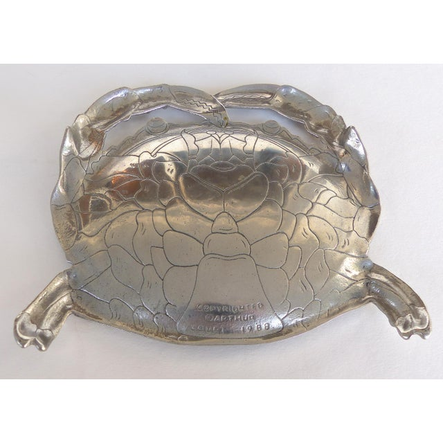 Arthur Court Crab & Lobster Serving Tray W/ Crab Plates - Set of 5 For Sale - Image 9 of 13