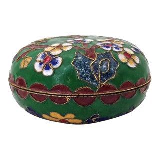Asian Champlevé Trinket Box