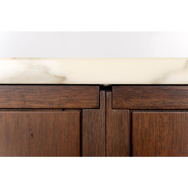 Florence Knoll Marble Top Credenza For Sale In New York - Image 6 of 10