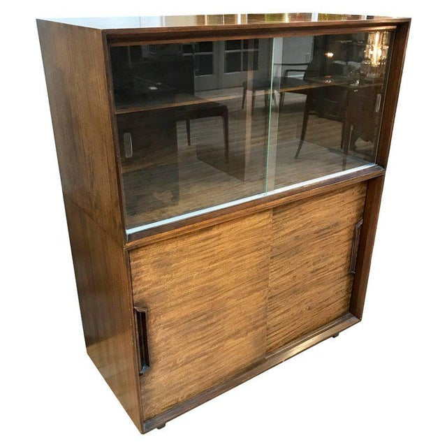 1950s Mid-Century Modern Milo Baughman for Drexel Perspective Mindoro Wood China Hutch For Sale - Image 12 of 12
