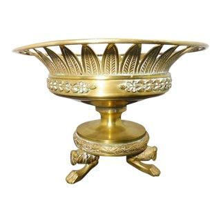 20th Century Neoclassical Bronze Tazza For Sale