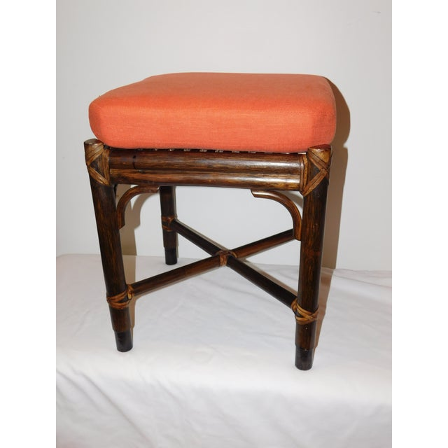 Vintage McGuire Rattan Benches - Pair - Image 5 of 10