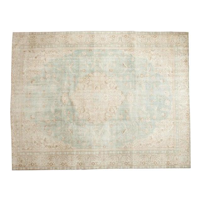 "Vintage Distressed Sivas Carpet - 8'7"" X 11'1"" For Sale - Image 12 of 12"